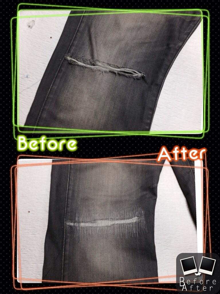G-STAR RAW ジースターロウ膝破れ修理
