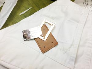 ドルチェ&ガッバーナ Dolce & Gabbana ショートパンツジーンズ タグ修理2