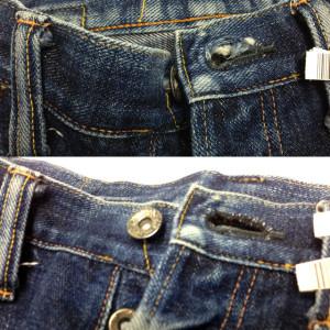 サムライジーンズ(Samurai Jeans) ボタンホール修理