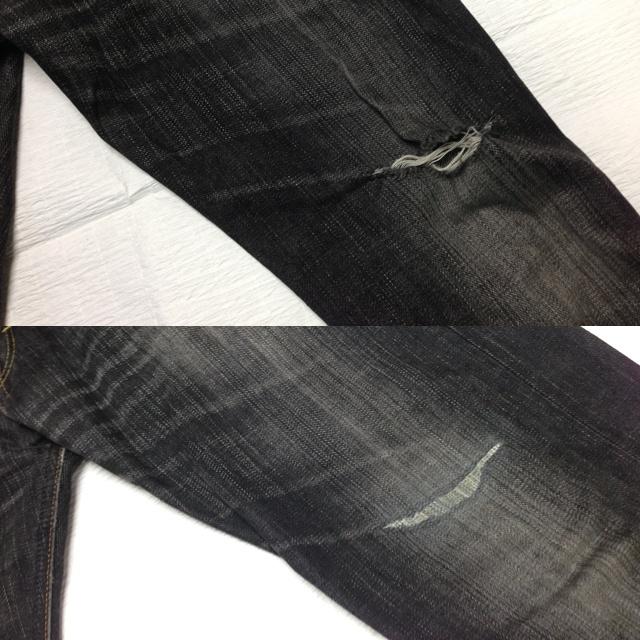 EDWIN503 BLUE TRIP 膝穴修理