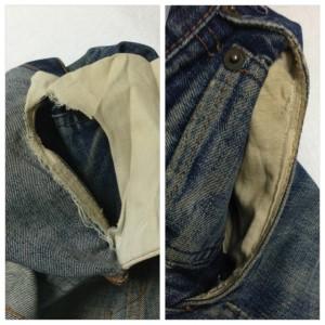 リーバイス ポケット修理2
