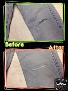 L.L.Bean(エルエルビーン)膝破れ穴修理