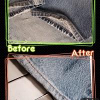 リーバイスジーンズ裾修理