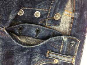 サムライジーンズ(Samurai Jeans) ボタンホール修理4