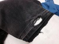 ヴェルサーチ VERSACE jeans 裾穴修理解き後