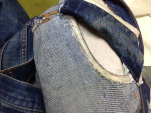 リーバイス ポケット修理5
