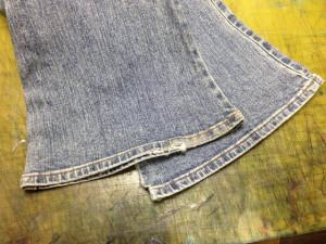 C-17 (シーセブンティーン) ジーンズ 挟み縫い 裾上げ11