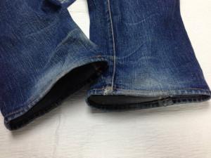 サムライジーンズ 裾ホツレ修理3