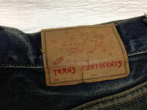 TRANS CONTINENTS トランスコンチネンツ ジーンズ 穴直し