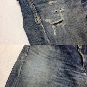 EDWIN503 BLUE TRIP 腿穴修理