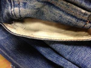 リーバイス ポケット修理4
