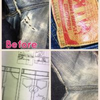ウェアハウスジーンズ修理