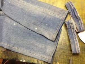 LOUNGE LIZARDラウンジリザードジーンズ裾丈詰め