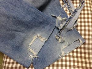 リーバイスジーンズ裾直し2