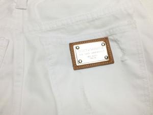 ドルチェ&ガッバーナ Dolce & Gabbana ショートパンツジーンズ タグ修理1