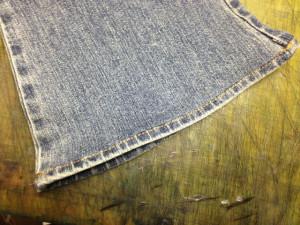 C-17 (シーセブンティーン) ジーンズ 挟み縫い 裾上げ7
