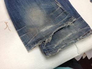 ハイダウェイ(HIDEAWAYS)裾修理1