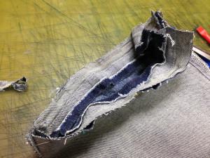 C-17 (シーセブンティーン) ジーンズ 挟み縫い 裾上げ12