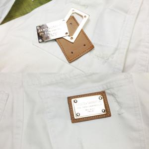 ドルチェ&ガッバーナ Dolce & Gabbana ショートパンツジーンズ タグ修理