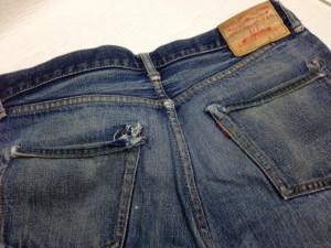 Denime(ドゥニーム)ジーンズ ポケット修理1