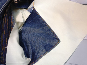 リーバイス ポケット修理8
