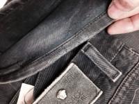 ヴェルサーチ VERSACE jeans 裾穴修理裏