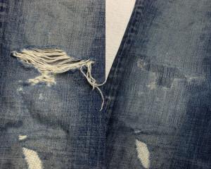 DSQUARED(ディースクエアード)膝穴修理02