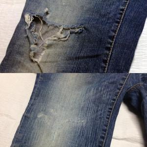 DSQUARED(ディースクエアード)膝穴修理のコピー