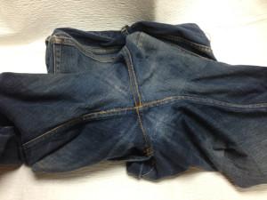 ジーンズ 股のスレ穴とポケットスレキのリペア10